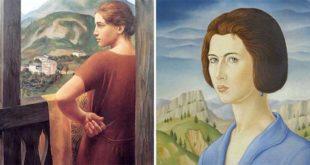 """Due dipinti di Ubaldo Oppi: """"Donna alla finestra"""" (1921) e """"Volto di Dhely"""" (1922)"""