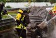 Auto va a fuoco in A31. Salvo il conducente