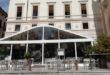 Vicenza, via il gazebo del Caffè Garibaldi