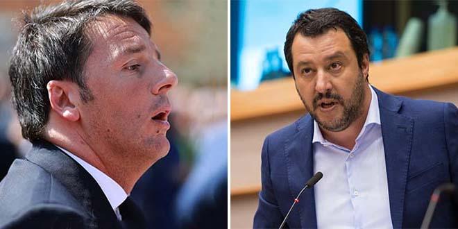 Renzi e Salvini - Foto: Francesco Pierantoni (CC BY 2.0) - European Parliament (CC BY-NC-ND 2.0)