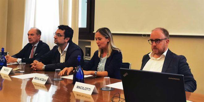 Da sinistra: Marangoni, Rucco, Bevilacqua e Macilotti