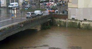 Il Bacchiglione a Ponte degli Angeli, alle 15.30 di oggi (dalla webcam del sito bacchiglione.it)