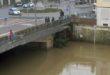 Il Bacchiglione a Ponte degli Angeli, alle 15.15 di oggi (dalla webcam del sito bacchiglione.it)