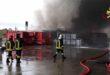 Vasto incendio in azienda di materie plastiche