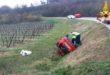 Auto si rovescia in un campo. Due donne ferite
