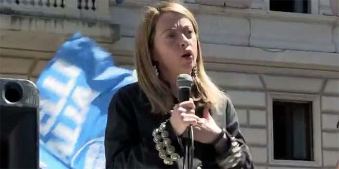 La leader di Fratelli d'Italia Giorgia Meloni (Foto di Atbc da Wikipedia - CC BY 4.0)