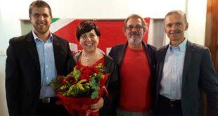 Valeria Di Giorgio, nel giorno della sua elezione a segretaria provinciale della Filt