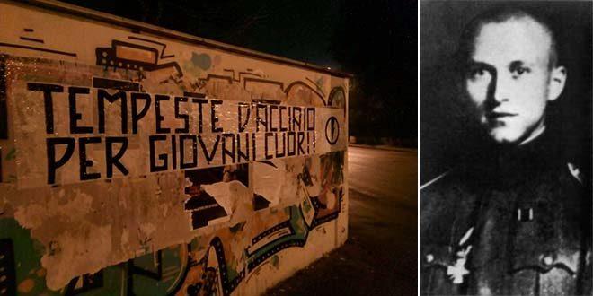 Vicenza, un blitz per ricordare Ernst Junger