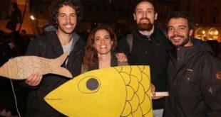 I quattro fondatori del movimento delle Sardine (dalla pagina Facebook 6000 Sardine Vicenza)