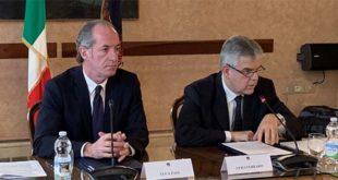 Il presidente della Regione, Luca Zaia, e l'ad di Terna Luigi Ferraris