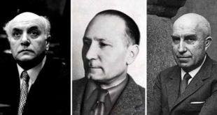 Da sinistra: Altiero Spinelli, Silvio Trentin e Gianfranco Miglio
