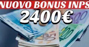 bonus 2400€ inps