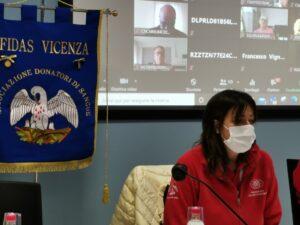 Fidas Vicenza-la presidente Chiara Peron nel corso dell'assemblea