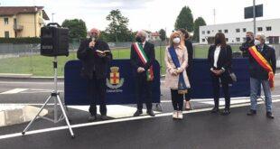Schio: inaugurata la nuova rotatoria di Giavenale