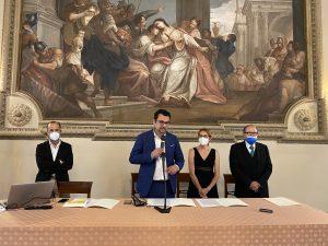 Da sinistra: Guido Beltramini, Francesco Rucco, Simona Siotto, Enrico Hüllweck