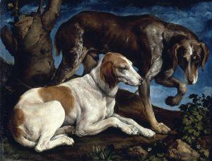 Jacopo Bassano - Ritratto di due cani 1548-50 - Musèe du Louvre Parigi