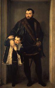 Veronese: ritratto di Iseppo Porto e suo figlio Leonida - 1552 ca. - Gallerie degli Uffizi Firenze