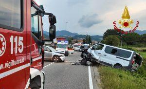 Cornedo Vicentino scontro tra un furgone e un SUV