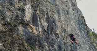 Giovane freeclimber