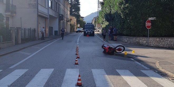 Schio: incidente auto-moto