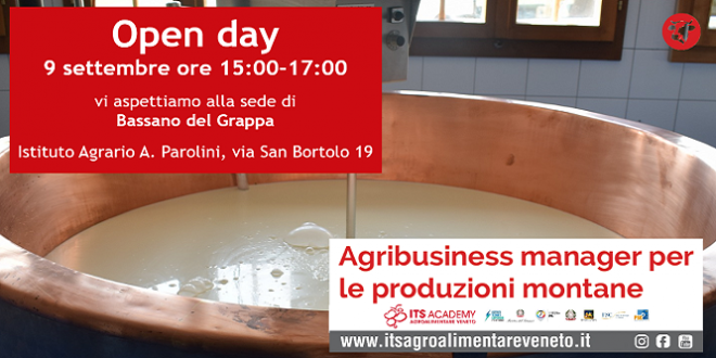 ITS Academy Agroalimentare Veneto: corso di alta formazione biennale a Bassano del Grappa
