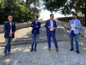 Da sinistra Valter Casarotto, Matteo Celebron, Francesco Rucco, Giovanni Fichera