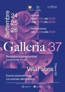 Thiene: Galleria 37 performances e solidarietà