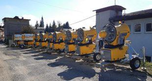 Primi 10 cannoni per l'innevamento artificiale delle piste di Asiago