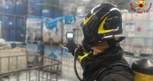 Arzignano: principio d'incendio all'interno di un'azienda